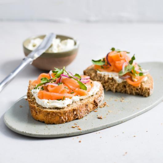 Toast au saumon